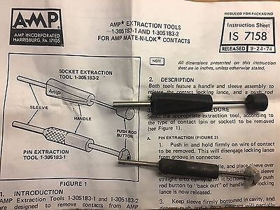 TYCO/AMP Extraction tools MATE-N-LOK 1-305183-1 & 1-305183-2