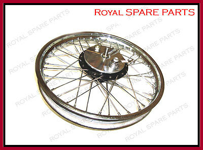 Brand New Royal Enfield Half Width Front Wheel And Brake Complete Assembly