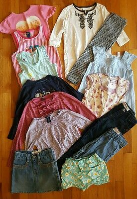 LOT 14 Pc Girl's OshKosh Clothes Tops Jeans Shirt Skirt Outfit Set - Size 4 5 6
