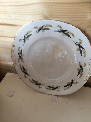 Royal Vale Cake/Sandwich Plate Grey And Yellow