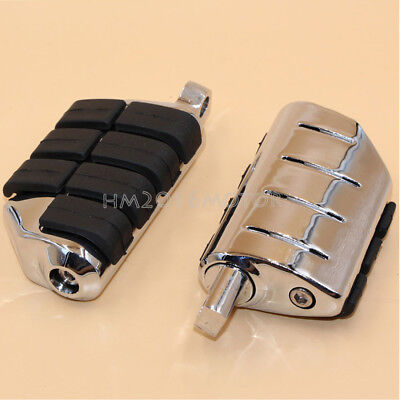 Chrome Footpegs Foot Pegs Mount For Harley Softail Sportster Dyna Touring