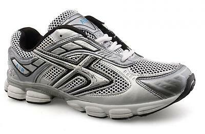 Mens New Silver White Sport Trainers Gym Walking Running 7