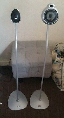 Klegg speaker stands.KG-020S. Pair of silver stands  Home cinema surround sound