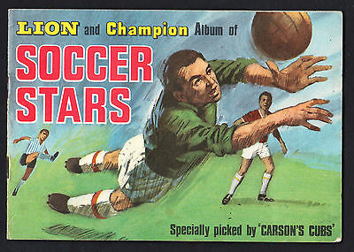 Lion and Champion Soccer Stars (1967) Album complete with all 110 stickers!