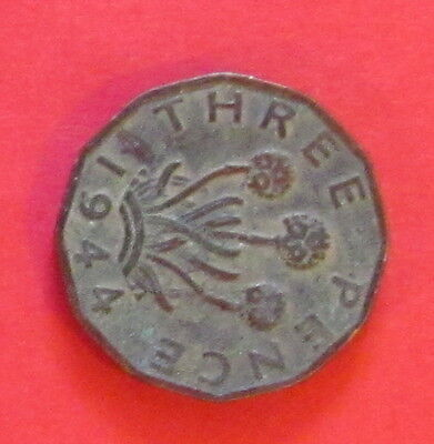 GB 3d coin 1944 circulated