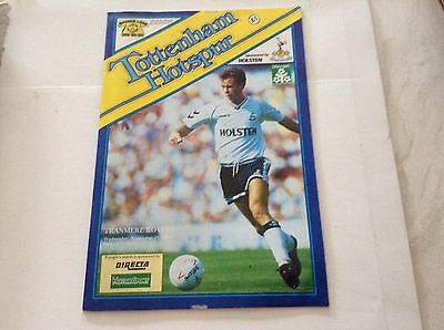 Tottenham v Tranmere Rovers programme Wednesday 29th 1989