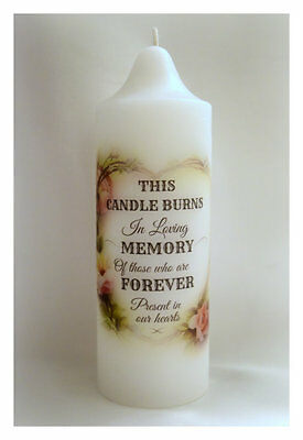 Wedding memorial candle (20cm x 7cm)