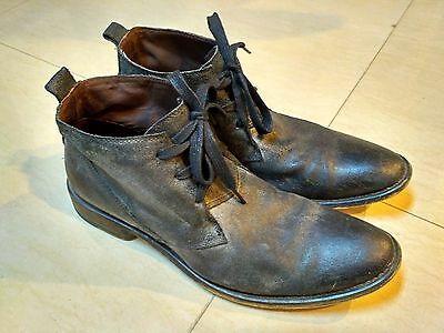 Castro Men High Top Shoes Back Leather Size 10 Perfect Condition
