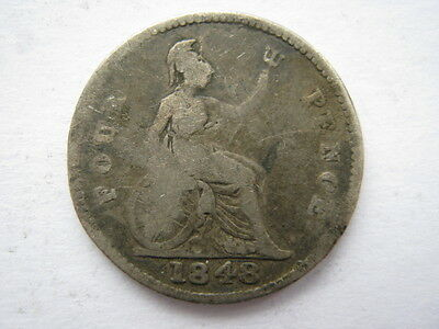 1848 Groat or Fourpence Poor