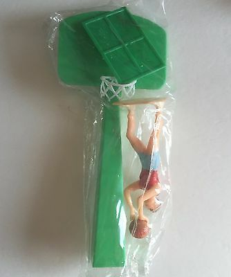 Vintage Wilton Cake Decorations Plastic Basketball Hoop and Player