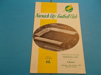1964-65 Norwich city v Chester League cup