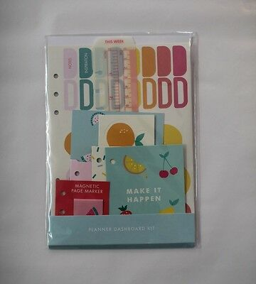 Kikki K Dashboard Kit for Large A5 Study Planner Organiser Diary Cute Stickers