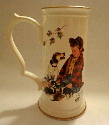 """Norman Rockwell Stein - Mug From The 4 Seasons Series """"fall-Pride Of Parenthood"""""""