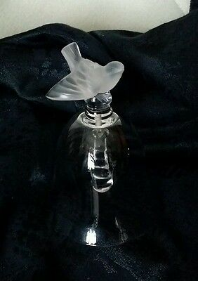 LALIQUE ■ FRANCE ■ Crystal FINCH Bird BELL ▪ SIGNED