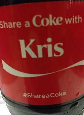 Share A Coke With Kris Coca Cola Bottle , New Unopened