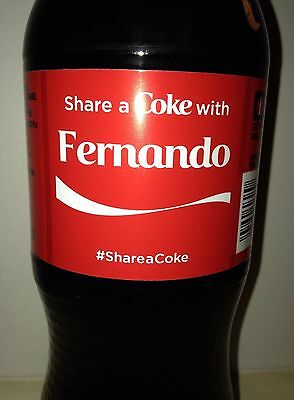 Share A Coke With Fernando Coca Cola Bottle , New Unopened