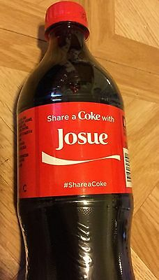 Share A Coke With Josue Coca Cola Bottle , New Unopened