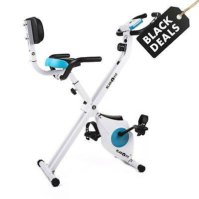 Klarfit Exercise Bike Cardio Fitness Workout Machine Padded Back Rest Foldable