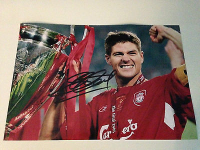 STEVEN GERRARD Signed Autographed Photo COA - LIVERPOOL - LA GALAXY