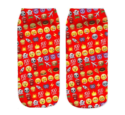 2 Paar Smiley Crazy Socken