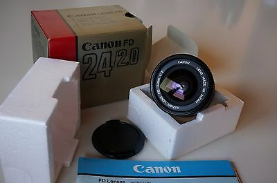 Canon FD new 24mm f2 boxed TOP