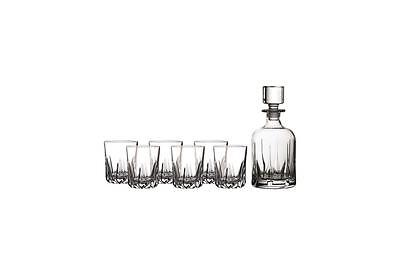 Royal Doulton  Mode Decanter Set & 6 Tumbler Glasses RRP £120