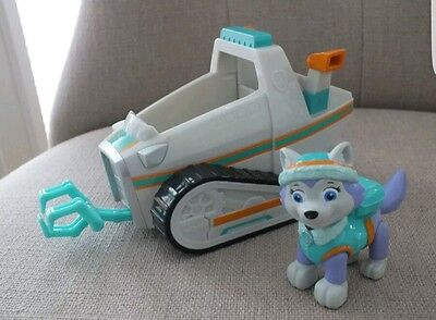 paw patrol everest figure and vehicle pup and car