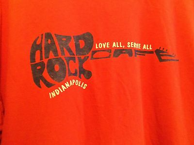 Hard Rock Cafe Indianapolis red graphic XL t shirt guitar