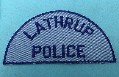 Old Lathrup Police, Michigan shoulder patch