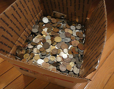 """(#17)  2 POUND """"BULK"""" WORLD FOREIGN COIN LOTS """"Kids Love Coins!"""""""