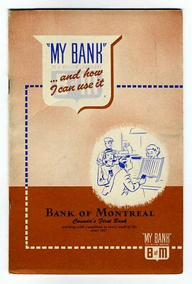 BANK OF MONTREAL MY BANK AND HOW I CAN USE IT 1948 Booklet Accounts Introduction