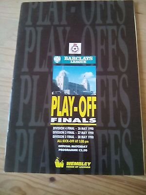 Barclays League Play-Off Finals 1990 Official Matchday Programme