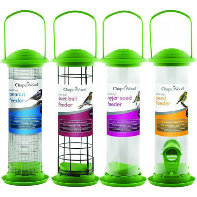 Twist Top Wild Bird Feeders | Garden | Seed Peanut Nyjer Suet Balls | Chapelwood
