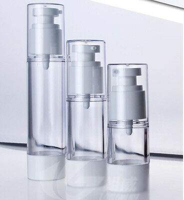 30ml 50ml Empty Airless Pump bottles Vacuum Clear Cosmetic Travel Containers
