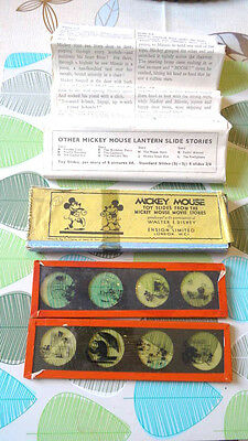 *old Collectable Boxed Disney Mickey Mouse - Gorilla Mystery Lantern Slides Set*