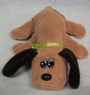 "VINTAGE Pound Puppies LITTLE TAN PUPPY DOG 8"" Plush STUFFED ANIMAL Toy"