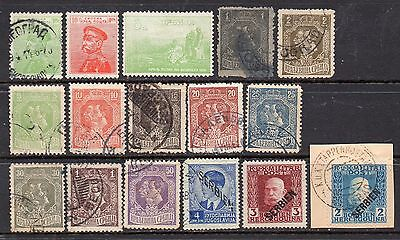 Serbia: Very Nice Selection of 16-Used-1913 to 1941-Issues