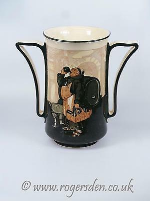 Royal Doulton  Monks In The Cellar Large Twin Handle Vase c1906  D2567 VERY RARE