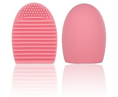 Pink Brush Egg Makeup Brush Cleaner Scrubber Cosmetic Cleaning Tool