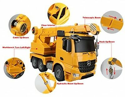 Hugine Authorized By Mercedes-Benz Arocs 2.4G 10 Channel RC Crane Truck With