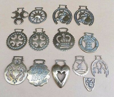 JOB LOT of 14 Vintage Horse Brasses (1 Repeat)