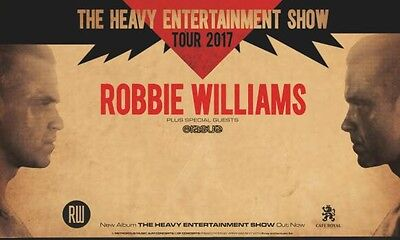 2 Robbie Williams Tickets, Will Take £170 Quick Instant Sale