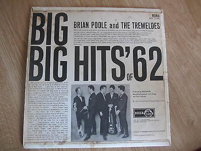 "Brian Poole and the Tremeloes ""Big hits of 1962""  On vinyl"