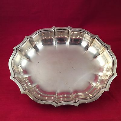 "Vintage ""Chippendale"" International Silver Plated Scalloped Serving Bowl"