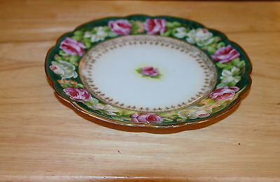 M Z Austria Rose Plate, Hand Painted
