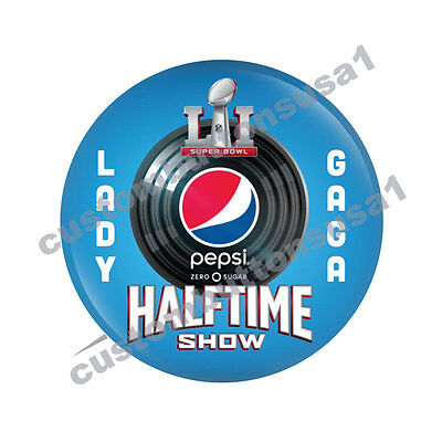 LADY GAGA BUTTON - PEPSI HALFTIME SHOW - SUPER BOWL LI 51 Patriots vs Falcons