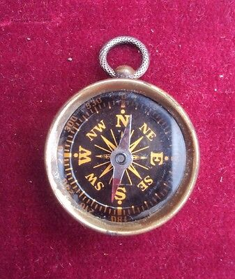 Compass With Ww1 Era Penny To The Reverse - Trench Art Style