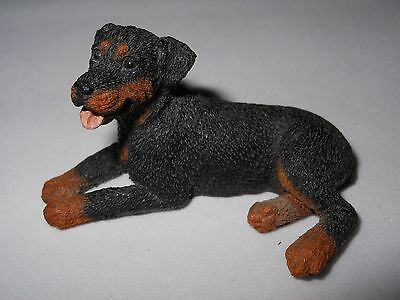 VINTAGE CASTAGNA ROTTWEILER Dog Figurine, Made in Italy 1988