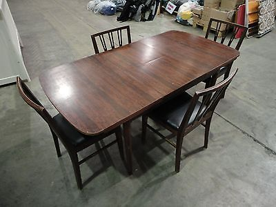 Mid-Century Schreiber Extendable Dining Table and 4 Chairs 70's G Plan Style