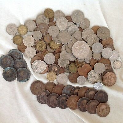 Old Uk Money Collection (Found In Loft) No Reserve